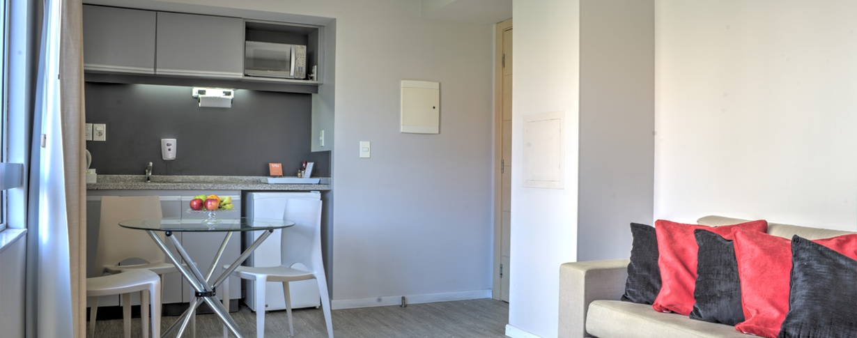 Kitchenette Regency Rambla Design Apart Hotel en Montevideo
